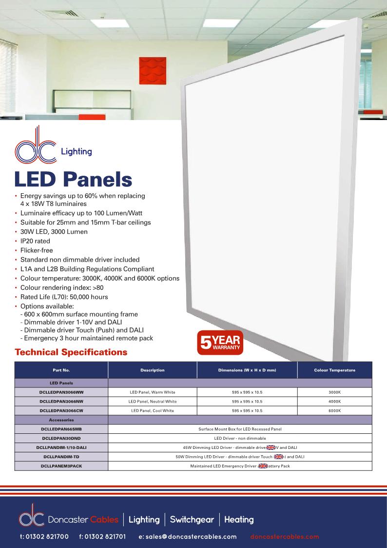 DC Lighting LED Panels