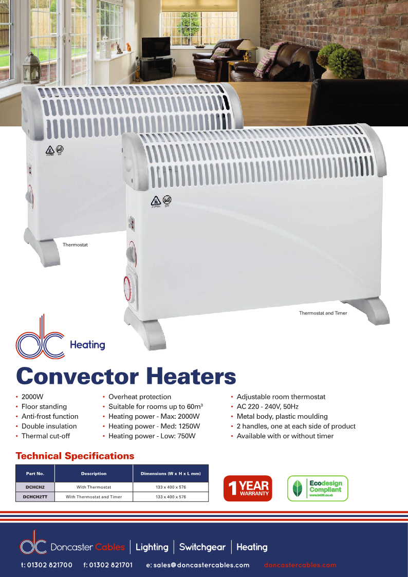 DC Heating Convector Heaters