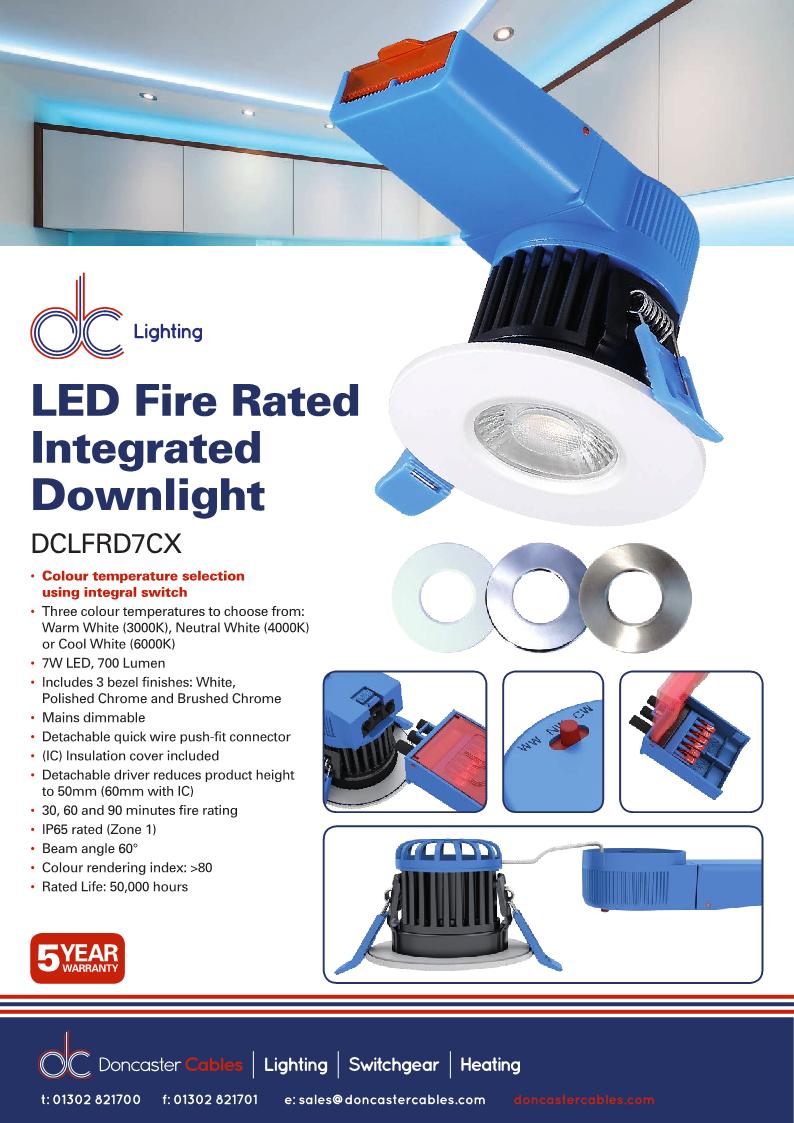 DC Lighting Integrated LED Downlights