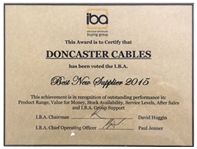 Doncaster Cables wins best supplier IBA