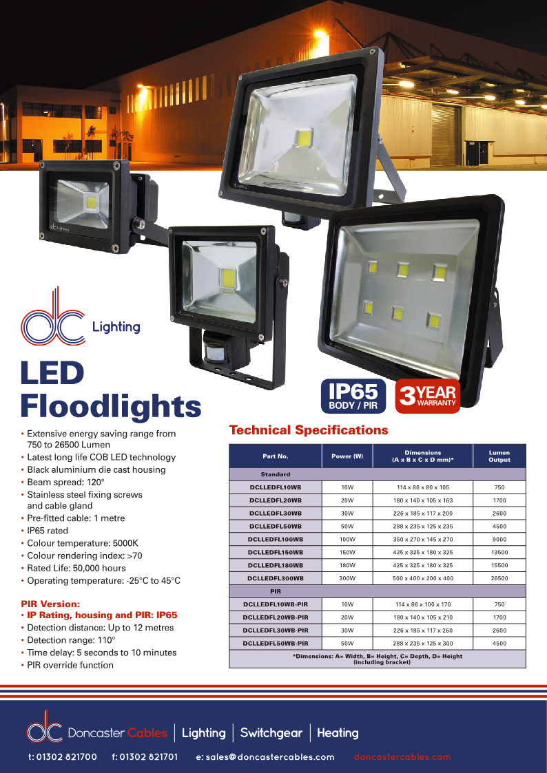 DC Lighting LED Floodlights